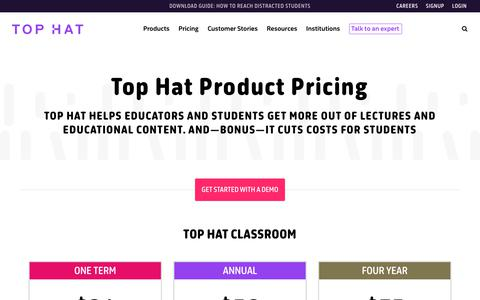 Screenshot of Pricing Page tophat.com - Pricing - Top Hat - captured Dec. 29, 2017