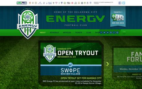 Screenshot of About Page energyfc.com - Energy FC - captured Oct. 31, 2014