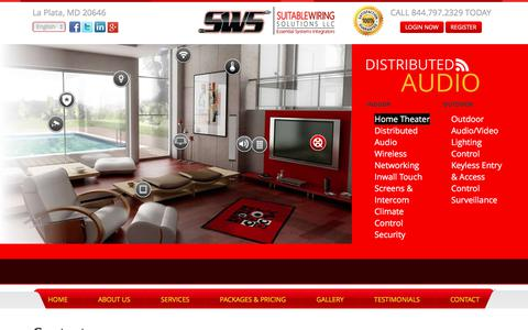 Screenshot of Contact Page suitablewiring.com - » Contact | Suitable Wiring Solutions LLC - captured Nov. 3, 2017