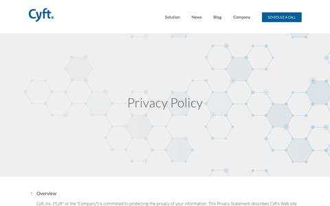 Privacy Policy – Cyft