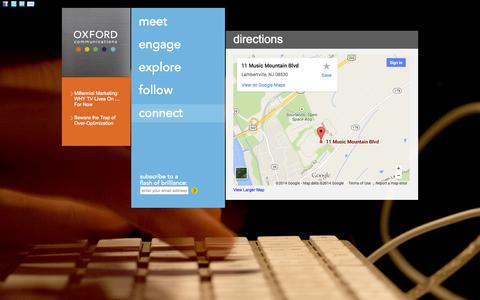 Screenshot of Maps & Directions Page oxfordcommunications.com - directions - Oxford Communications Oxford Communications - captured Oct. 9, 2014