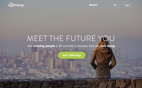 Screenshot of Home Page lifetramp.com - Lifetramp – Meet the Future You - captured July 17, 2018