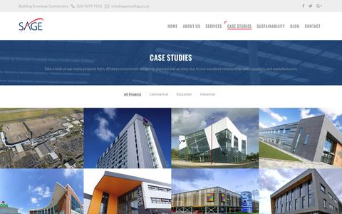 Screenshot of Case Studies Page sageroofing.co.uk - Case Studies | Excellent Work With Excellent Service | Sage Roofing - captured Nov. 18, 2016