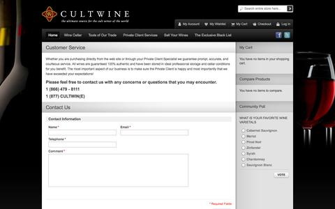 Screenshot of Support Page cultwine.com - Cultwine - captured Sept. 30, 2014
