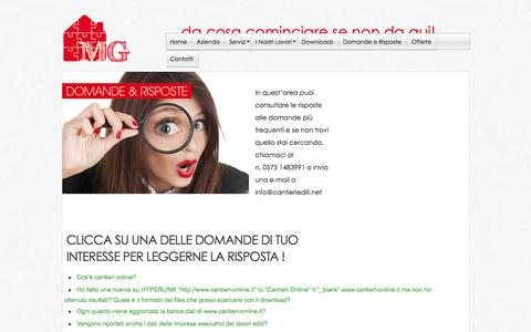 Screenshot of FAQ Page mgpg.it - Domande e risposte - captured Oct. 3, 2014