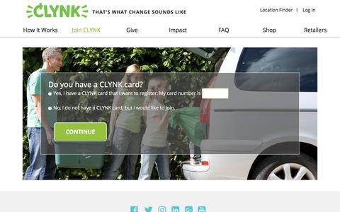 Screenshot of Signup Page clynk.com - Signup – Clynk - captured July 14, 2018