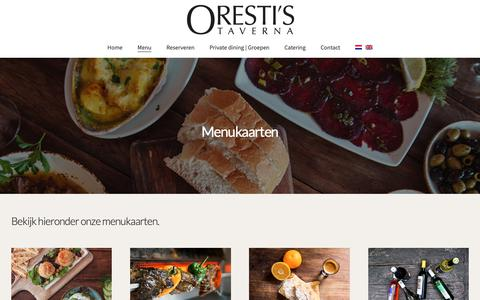 Screenshot of Menu Page orestistaverna.nl - Menu | Oresti's Taverna - captured Nov. 7, 2018