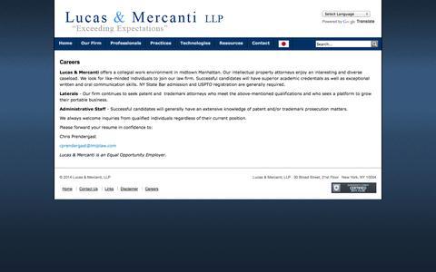 Screenshot of Jobs Page lmiplaw.com - lmiplaw.com - Careers - captured Oct. 3, 2014