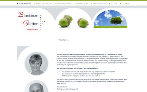 Screenshot of Home Page blackburngarden.com - Blackburn Garden Business Solutions - captured Oct. 5, 2014