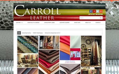 Screenshot of Press Page theleathercollection.us - Press Room | Carroll Leather - captured Sept. 23, 2014
