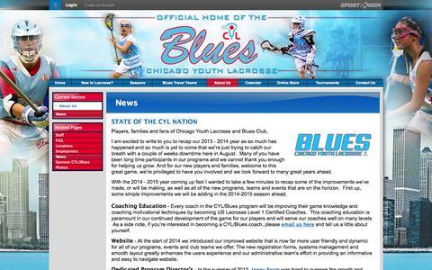 Screenshot of Press Page chicagoyouthlacrosse.com - News - captured Sept. 29, 2014