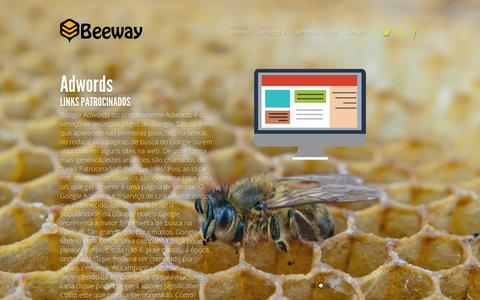 Screenshot of Home Page beeway.com.br - Beeway - SEO, Adwords, Marketing Digital, Desenvolvimento de Sites, Infraestrutura e Levantamento de Processos. - captured Feb. 7, 2016