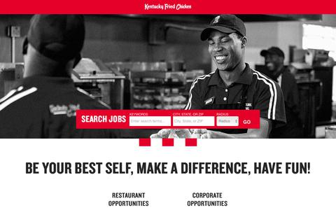Working at the KFC | Jobs and Careers at KFC