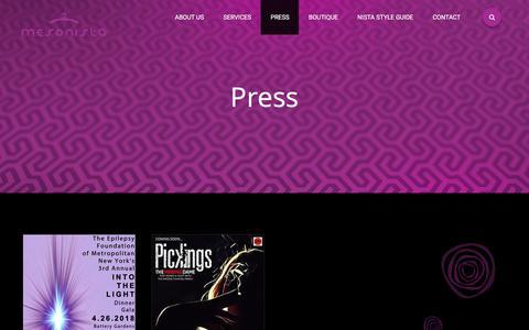 Screenshot of Press Page mesonista.com - Press - Mesonista - captured Sept. 20, 2018