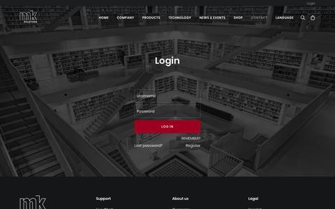 Screenshot of FAQ Page mk-solutions.com - Login - mk Solutions - captured Nov. 15, 2018
