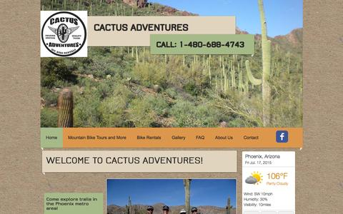 Screenshot of Testimonials Page cactusadventures.com - Cactus Adventures Phoenix Arizona - captured July 17, 2015