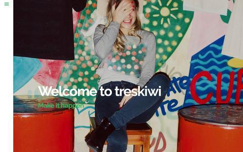 Screenshot of Home Page treskiwi.com - treskiwi | Agencia Creativa Digital - captured Feb. 11, 2016