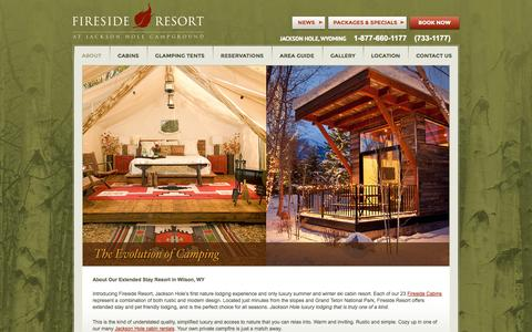 Screenshot of About Page firesidejacksonhole.com - About Our Pet Friendly, Extended Stay Resort in Wilson, WY - captured Nov. 3, 2014