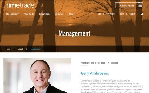 Screenshot of Team Page timetrade.com - Management Team Members | TimeTrade - captured Nov. 27, 2017