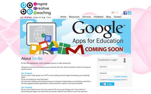 Screenshot of Home Page do-be.co.uk - Do-be Ltd - captured Oct. 5, 2014