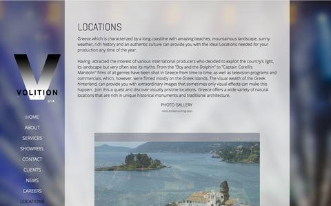 Screenshot of Locations Page volitionpictures.com - Locations - Volition Pictures - captured Oct. 9, 2014
