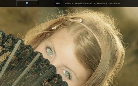 Screenshot of Home Page dlc-photo.com - DLC-PHOTO.COM - Votre partenaire événementiel - captured Jan. 12, 2016