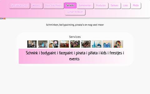 Screenshot of Services Page eglysart.com - Services - Eglysart - captured July 12, 2016