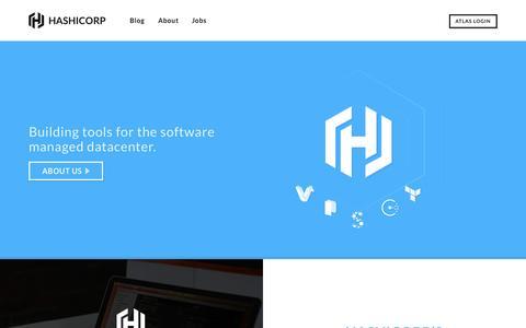Screenshot of Home Page hashicorp.com - HashiCorp - captured Jan. 18, 2015