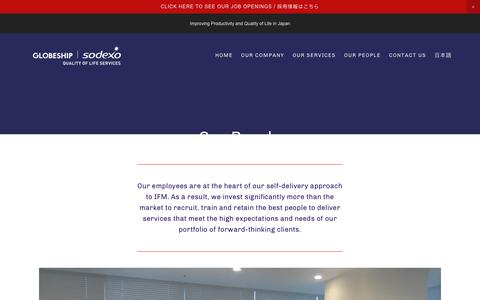 Screenshot of Team Page globeshipsodexo.com - Our People — GLOBESHIP SODEXO - captured July 8, 2019