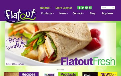 Screenshot of Home Page flatoutbread.com - Flatout Bread — Better Than Sliced Bread - captured Sept. 18, 2015