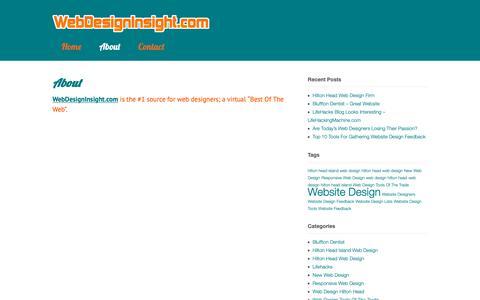 Screenshot of About Page webdesigninsight.com - About | WebDesignInsight.com - captured Nov. 7, 2018