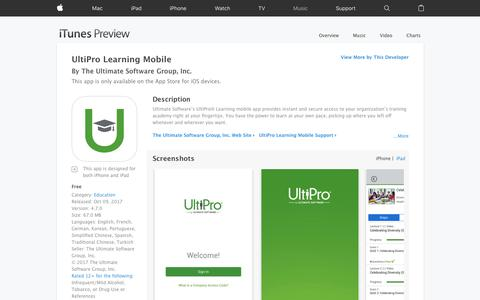 UltiPro Learning Mobile on the App Store