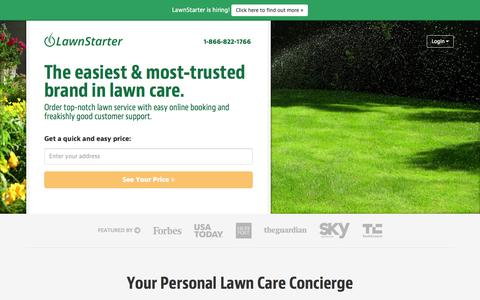 Screenshot of Home Page lawnstarter.com - LawnStarter, The Easiest Way To Order Lawn Care   | The Easiest Way To Order Lawn Care - captured Nov. 6, 2015