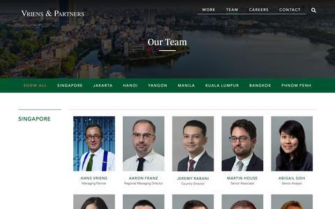 Screenshot of Team Page vrienspartners.com - Team - Vriens & Partners - captured Oct. 19, 2018