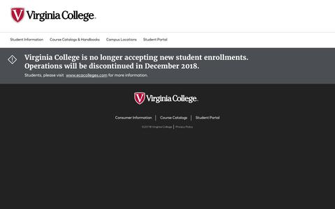 Screenshot of Home Page vc.edu - Virginia College: Fully Accredited. Degrees and Diplomas. - captured Dec. 13, 2018