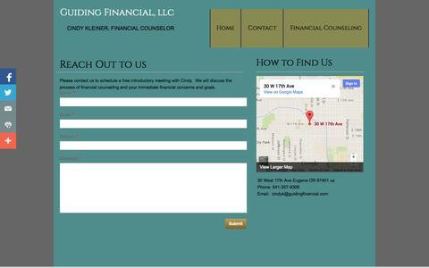 Screenshot of Contact Page guidingfinancial.com - Contact - captured Oct. 3, 2014