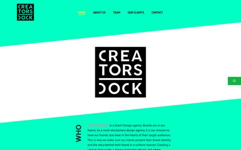 Screenshot of Home Page creatorsdock.com - Home - Creatorsdock - captured Sept. 30, 2018