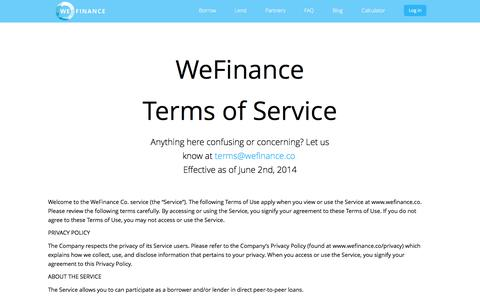 WeFinance Terms of Service