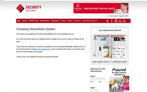 Screenshot of Login Page securitynewsdesk.com - Company NewsDesk Update - Security News | Security News - captured Sept. 23, 2014