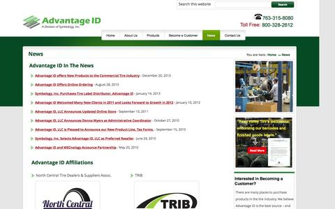 Screenshot of Press Page advantageid.com - Advantage ID | News - captured Oct. 4, 2014