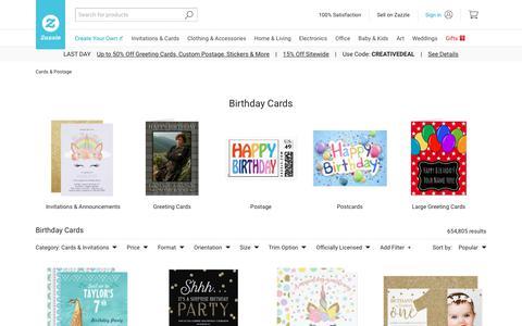 Birthday Cards | Zazzle