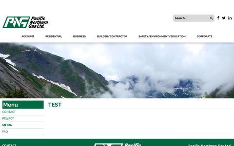 Screenshot of Press Page firstsahara.com - Pacific Northern Gas Ltd. - MEDIA - captured Oct. 13, 2017