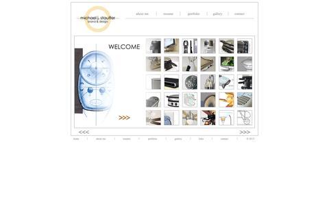 Screenshot of Home Page staufferdesign.com - Michael J. Stauffer Industrial Designer - Index Page - captured Oct. 3, 2014