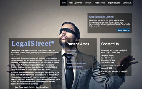 Screenshot of Home Page legalstreet.co.nz - Legal Street - captured June 17, 2015
