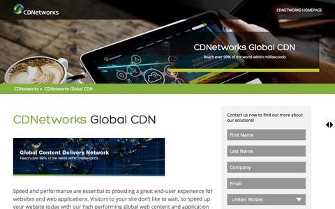 Screenshot of Landing Page cdnetworks.com - CDNetworks Global CDN   CDNetworks - captured July 3, 2015