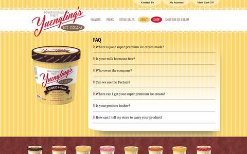 Screenshot of FAQ Page yuenglingsicecream.com - FAQ | Yuengling's Ice Cream - captured Oct. 20, 2018