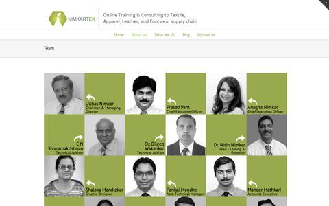 Screenshot of Team Page nimkartek.com - Team - NimkarTek Technical Services Pvt Ltd - captured Nov. 30, 2016