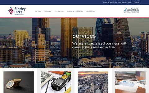 Screenshot of Services Page stanleyhicks.co.uk - Services - Stanley Hicks - captured Oct. 19, 2018