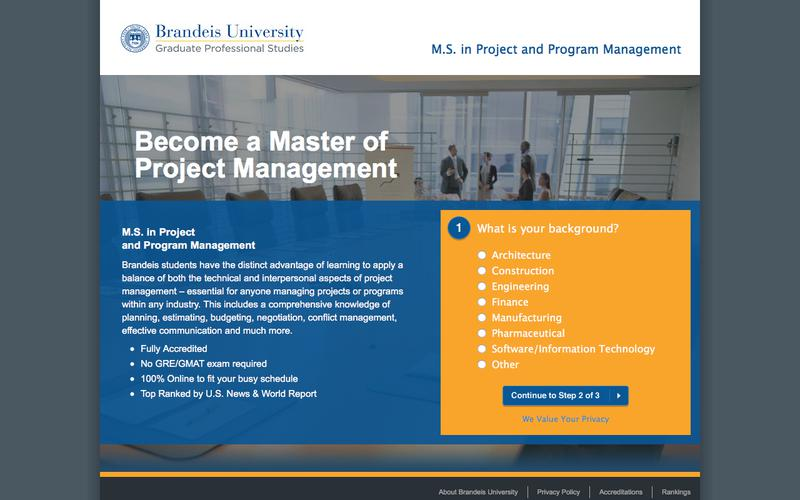 Brandeis University's Online Masters in Project Management | Brandeis University