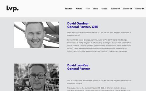 Screenshot of Team Page londonvp.com - Team — LVP - captured Sept. 17, 2019